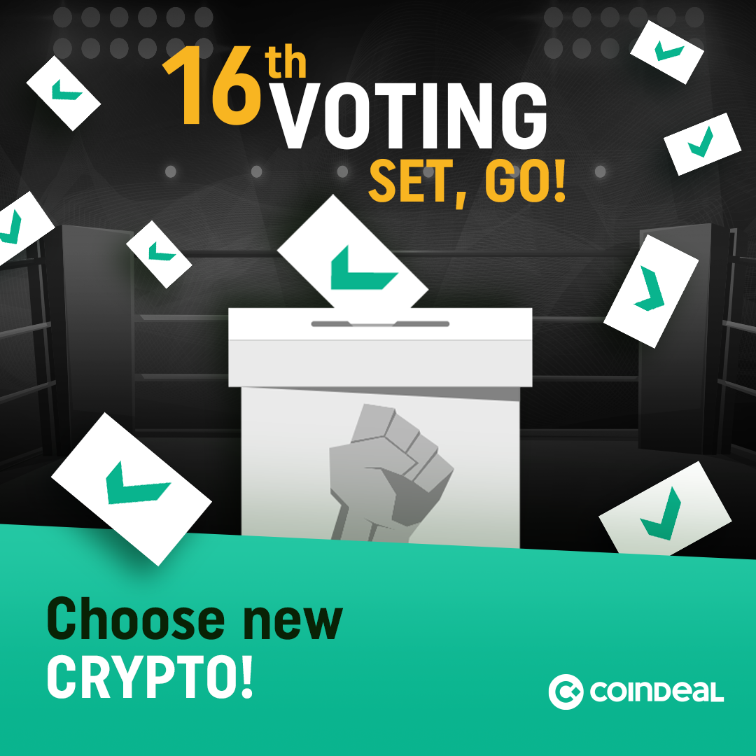 The 16th edition of the vote on CoinDeal – SET, GO!