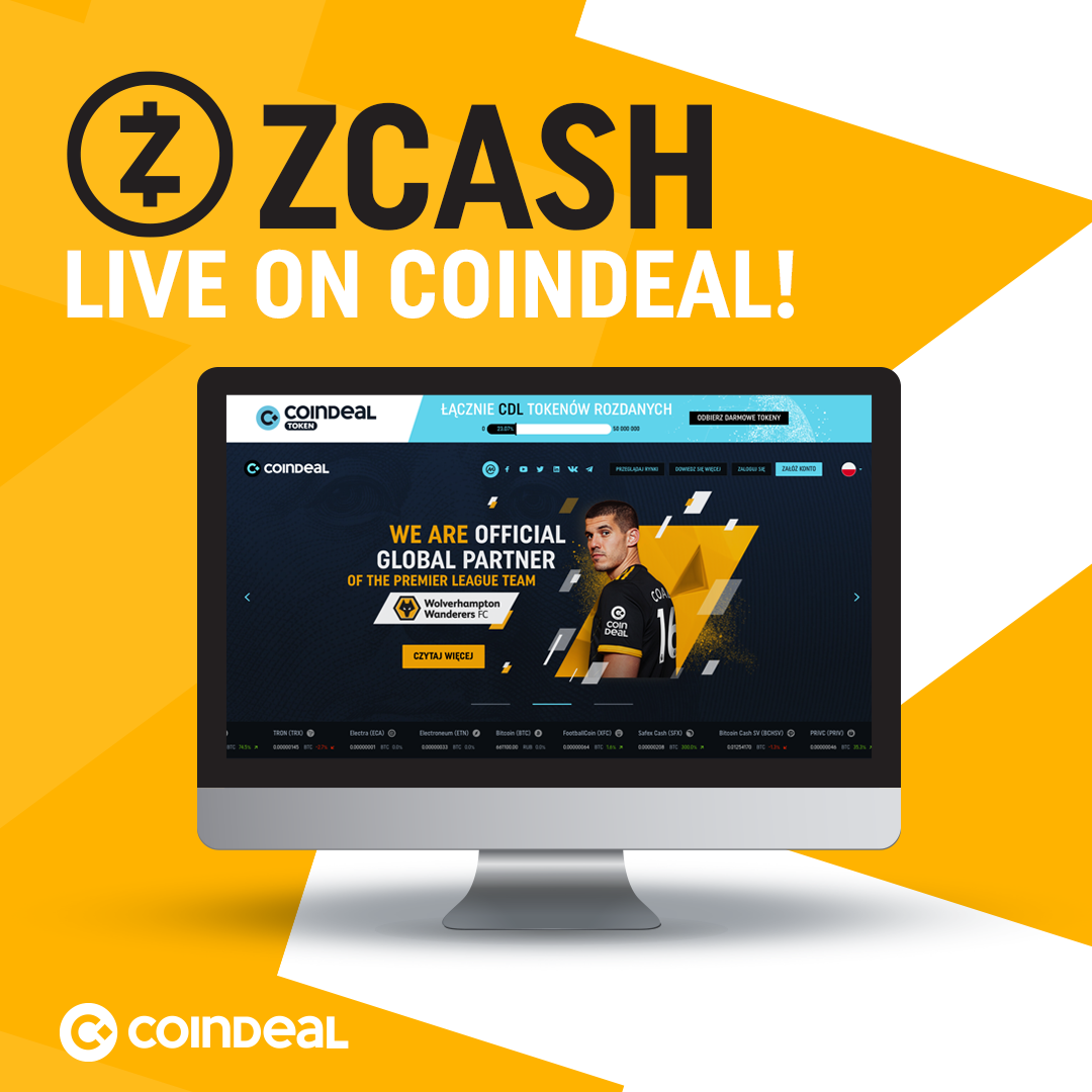 Zcash now available on CoinDeal!