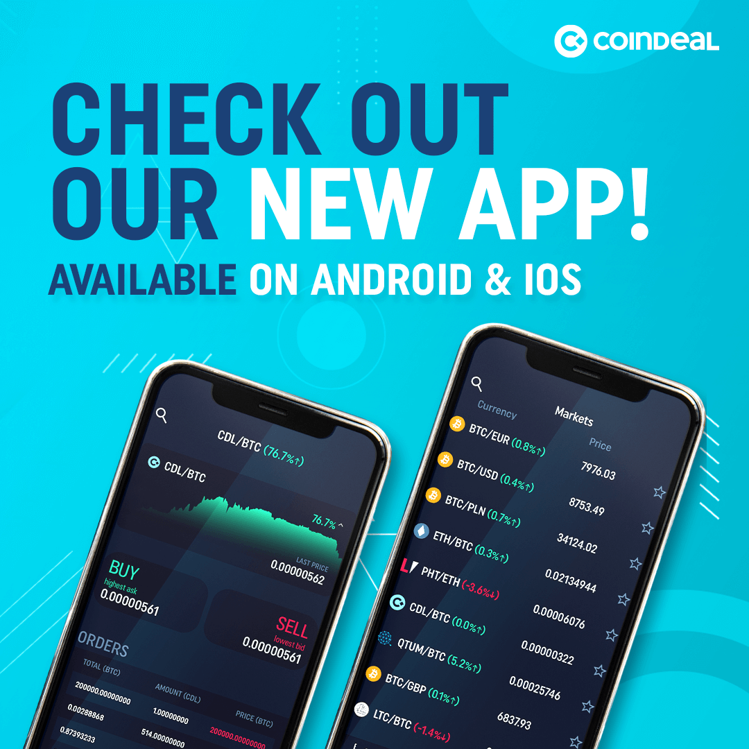 Check out CoinDeal mobile app!