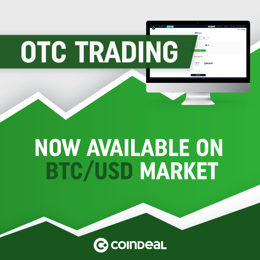Trade OTC now also on BTC/USD market!