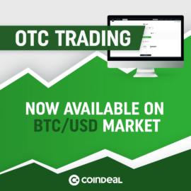 Trade OTC now also on BTC/USD market!