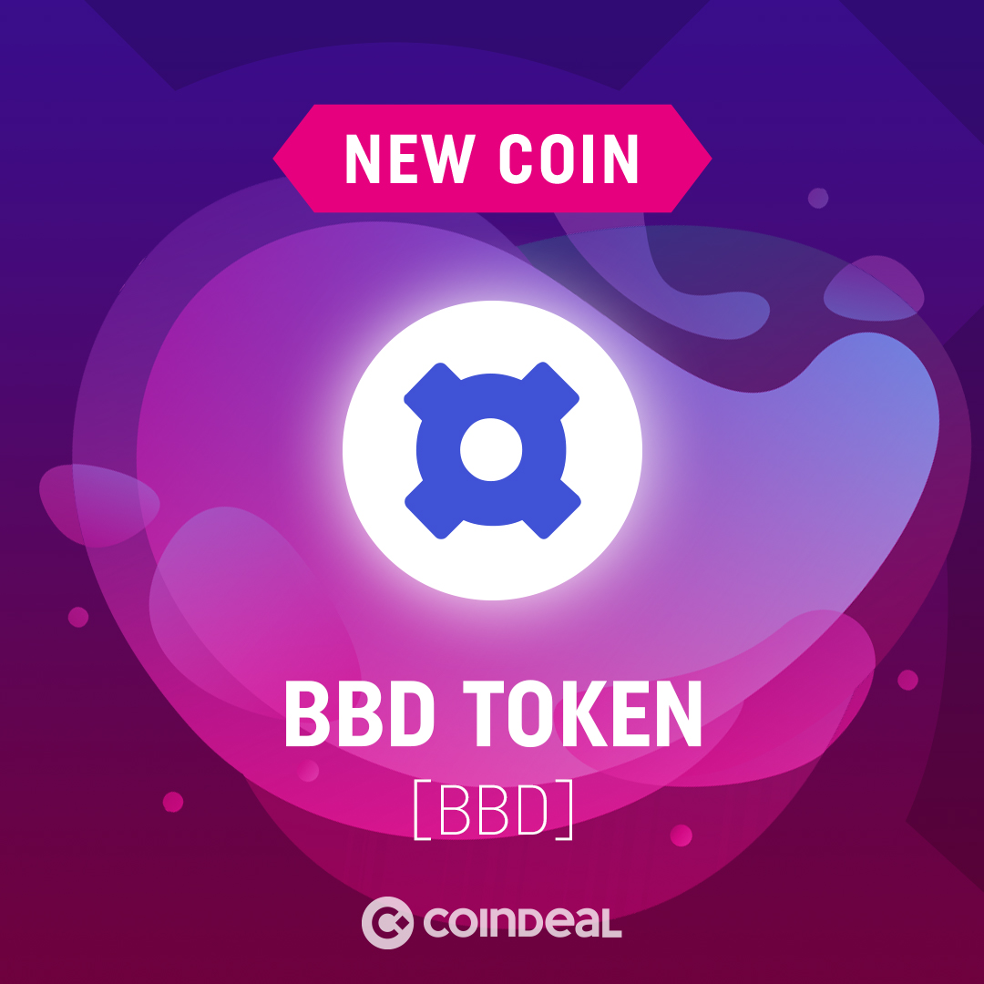 BBD is live on CoinDeal!