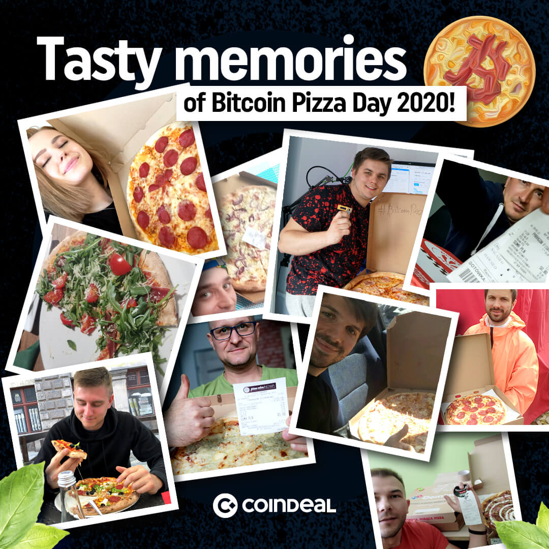 Winners of Bitcoin Pizza Day on CoinDeal