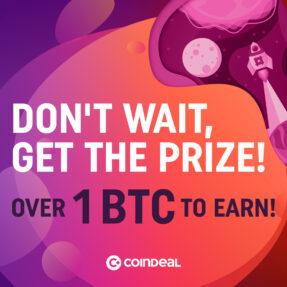 Over 1 BTC prize!