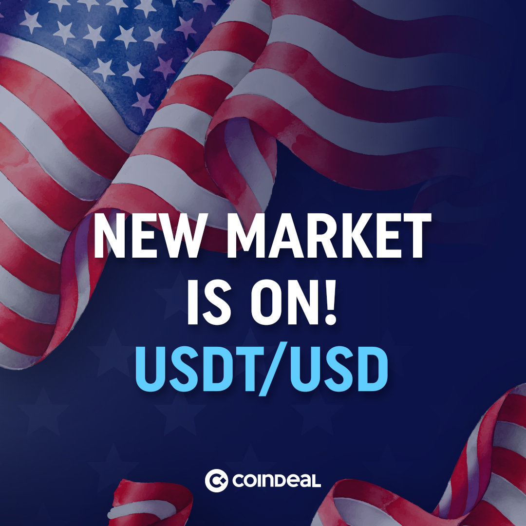 USDT/USD live on CoinDeal!
