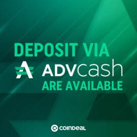 Deposit FIATs via ADVCASH!