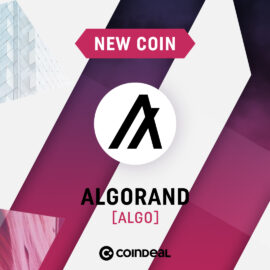 Welcome ALGO on CoinDeal